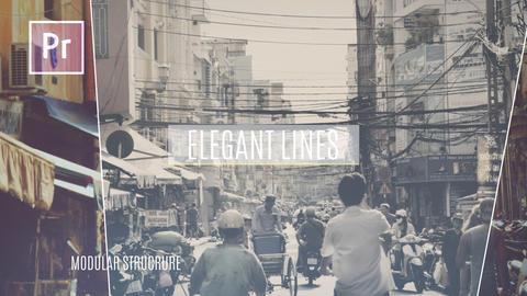 Elegant Lines Slideshow Premiere Proテンプレート