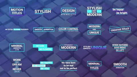 Motion Titles Motion Graphics Template