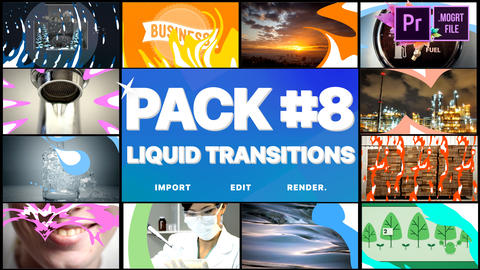 Liquid Transitions Pack 08 Motion Graphics Template
