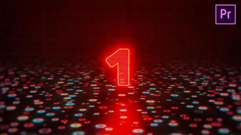 Glitch Countdown Logo Premiere Proテンプレート