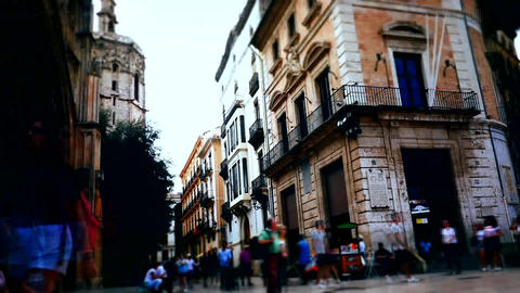 Spain, Barcelona ancient historical infrastructure Footage