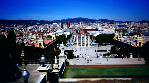 time lapse shot of Spain Barcelona Museum Footage