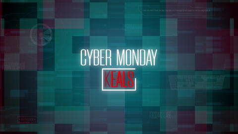 CG Modern Animation With Cyber Monday Deals Text Animation