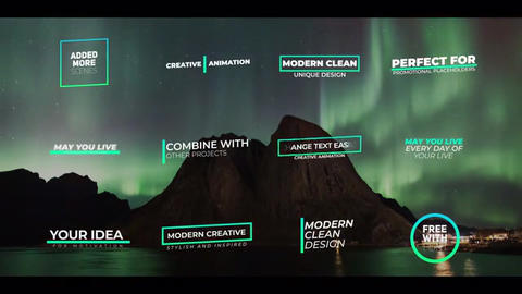 Titles Motion Graphics Template