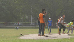 Cricket players on the Maidan,Kolkata,India Footage