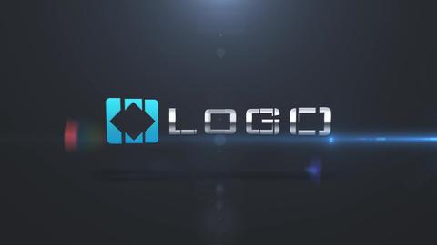 Dynamic Elegance Dark Business Logo Elements Build Light Animation Stinger After Effects Template