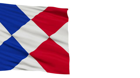 Islands of Refreshment Micronation Close Up Waving Flag Animation