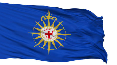Anglican Communion Religious Isolated Waving Flag Animation