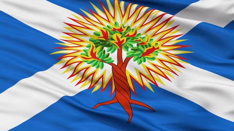 Church of Scotland Religious Close Up Waving Flag Animation