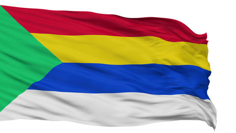 Druze Religious Isolated Waving Flag Animation