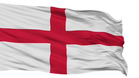 England Religious Isolated Waving Flag Animation