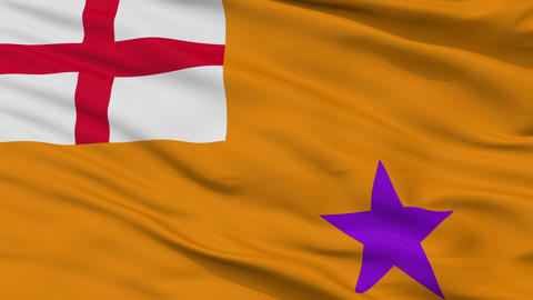 Orange Order Religious Close Up Waving Flag Animation