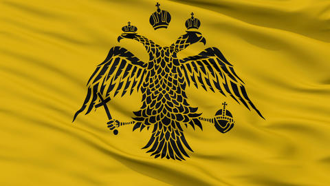 Patriarch of Constantinople Religious Close Up Waving Flag Animation