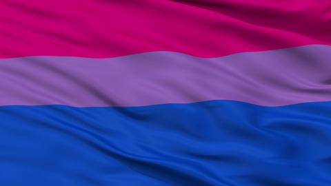 Bi Sexual Close Up Waving Flag Animation