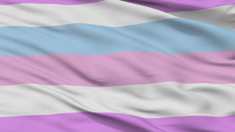 Bigender Pride Close Up Waving Flag Animation