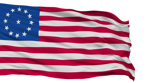 Cowpens USA Isolated Waving Flag Animation