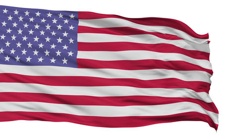 52 Stars USA Isolated Waving Flag Animation