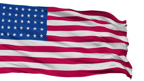 35 Stars USA Isolated Waving Flag Animation