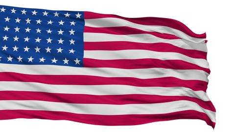 44 Stars USA Isolated Waving Flag Animation