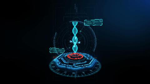 3D Scene DNA footage Animation
