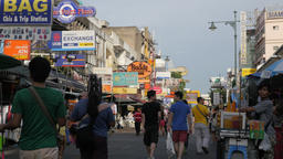 Khaosan road backpacker area in Bhanglamphu,Bangkok,Thailand Footage