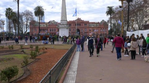 """Bicentennial Independence day celebrations Argentina House of Government """"Casa Footage"""