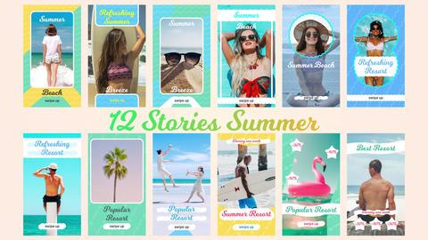 12 Stories Summer Plantillas de Premiere Pro