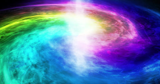 4k Equality and peace galaxy concept. Rainbow color galaxy. LGBT world concept Animation
