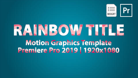 Rainbow Titles Motion Graphics Template