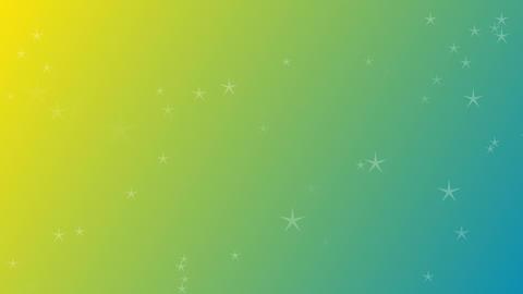 キラキラ星柄の子供向け背景素材 CG動画