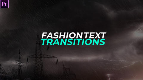 Fashion Text Transitions Premiere Pro Effect Preset