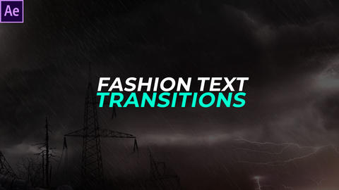 Fashion Text Transitions Presets After Effects Animation Preset
