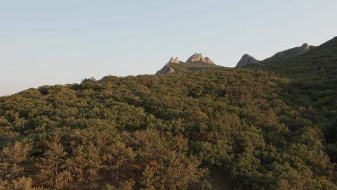 eastern slope of the mountain volcanic massif in the territory of the Feodosia Live Action