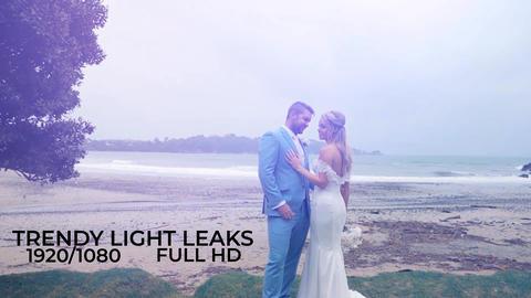 Trendy Light Leaks Pack モーショングラフィックステンプレート