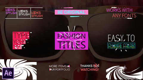 Juicy Fashion Titles After Effects Template