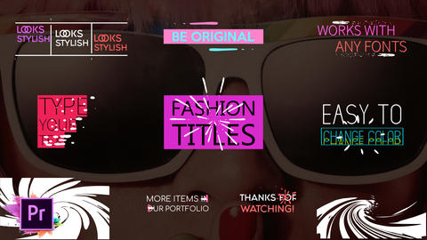 Juicy Fashion Titles モーショングラフィックステンプレート