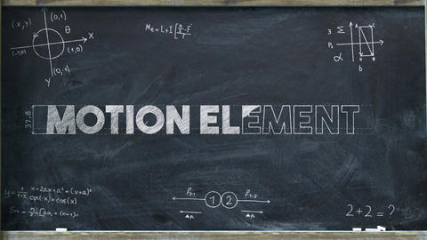 Chalkboard Math Logo After Effects Template