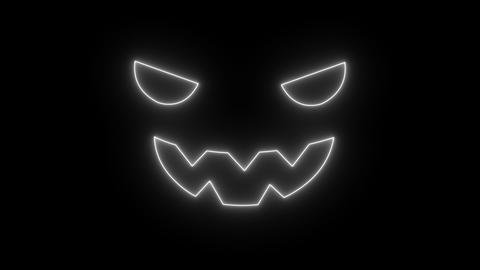 Halloween animation silhouette of halloween jack flickering on black screen Live Action