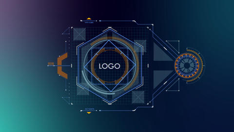 Falcon HUD Logo 07 After Effects Template