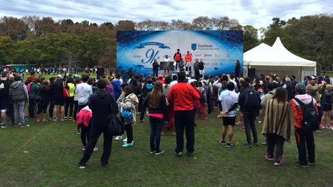 Bicentennial marathon celebration winners podium Live Action