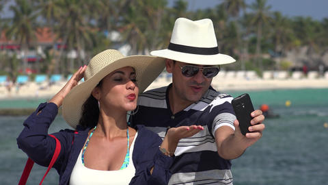 Husband And Wife Selfie On Vacation Live Action