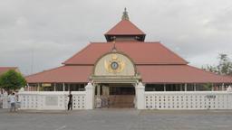 Besar mosque, boys making photo,Yogyakarta,Java,Indonesia Footage