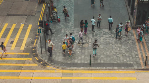 Traffic in Hong Kong Timelapse Zoom Out Footage