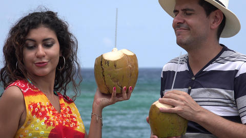 People Having Fun On Tropical Vacation Stock Video Footage