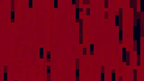 Geometrical Black Rectangles On Red Background Flowing For Logo Or Text Animation