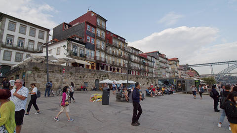 The banks of River Douro in Porto are a popular place to relax - CITY OF PORTO Footage