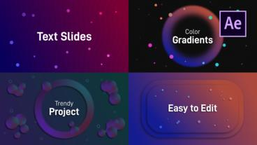 Text Slides After Effects Template