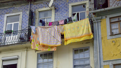 Typical houses in the historic district of Porto - CITY OF PORTO, PORTUGAL - Footage