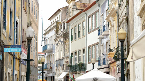 Typical buildings in Aveiro historic district - CITY OF AVEIRO, PORTUGAL - Footage