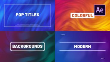 Pop Titles After Effects Template